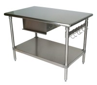 Stainless Steel Table With Shelf | Shelves | Shelving