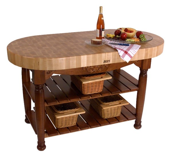 Butcher Block Kitchen Island Table