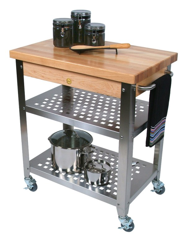 Butcher Block Kitchen Island Cart