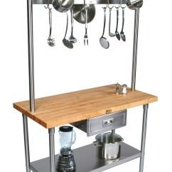 Catskill Craftsmen Kitchen Island Swivel Aerator For Faucet Boos Cucina Grandioso Prep Table, Optional Pot Rack