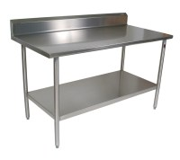 John Boos Stainless Steel Work Table w/ Shelf - 14Ga Top ...