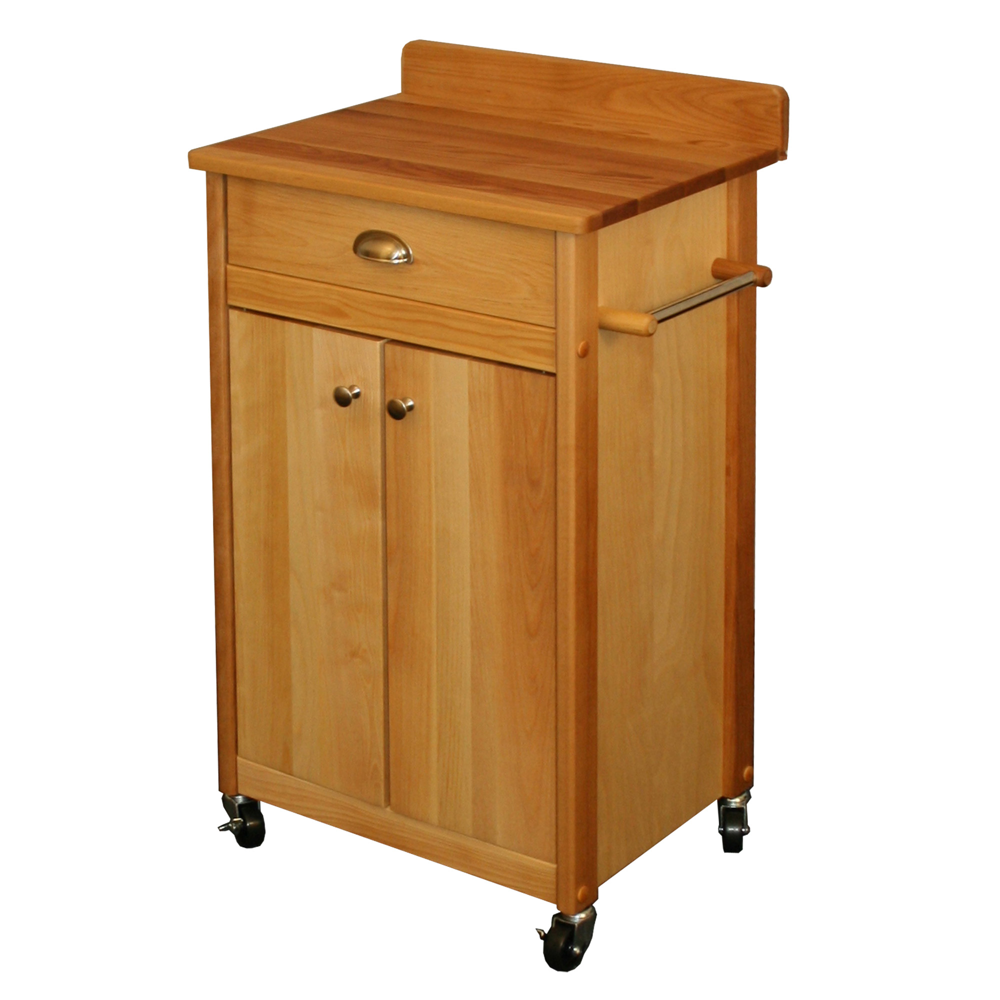 butcher block kitchen island cart unfinished oak cabinets home depot carts