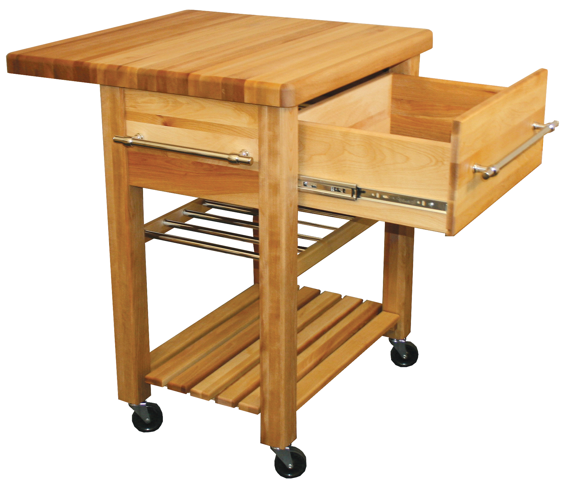 kitchen island with drop leaf clearance complete remodel butcher block workcenter wine rack