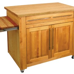 Butcher Block Kitchen Island Cart Hobart Equipment Carts For Sale
