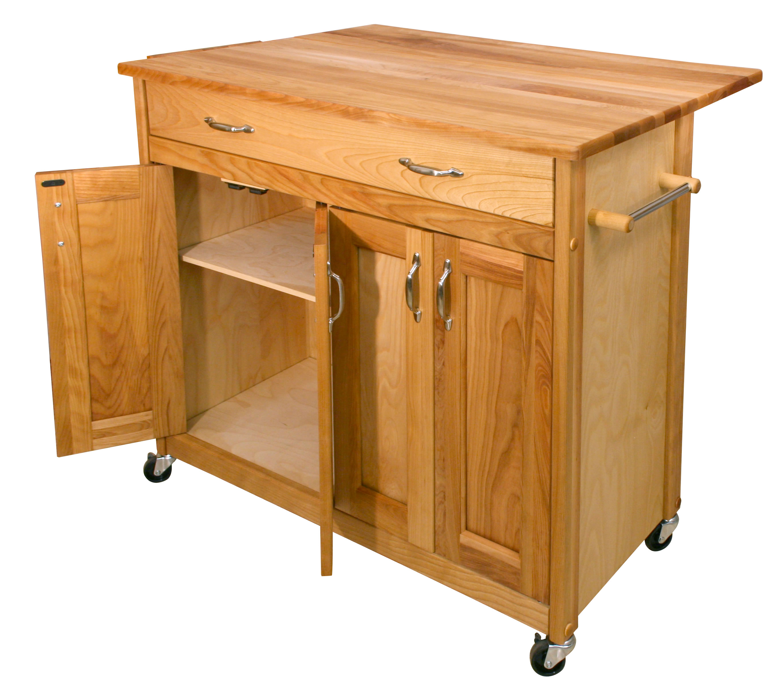 kitchen island with drop leaf wooden play sets catskill mid sized cart w
