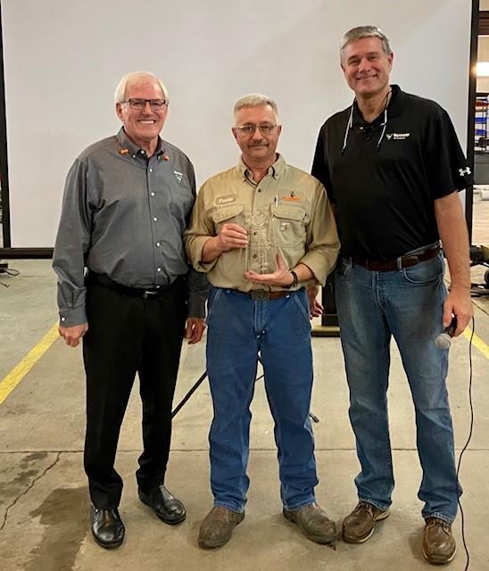 Bob Vermeer Spirit of Caring Award goes to Franklin Eldridge, continuous improvement technician.