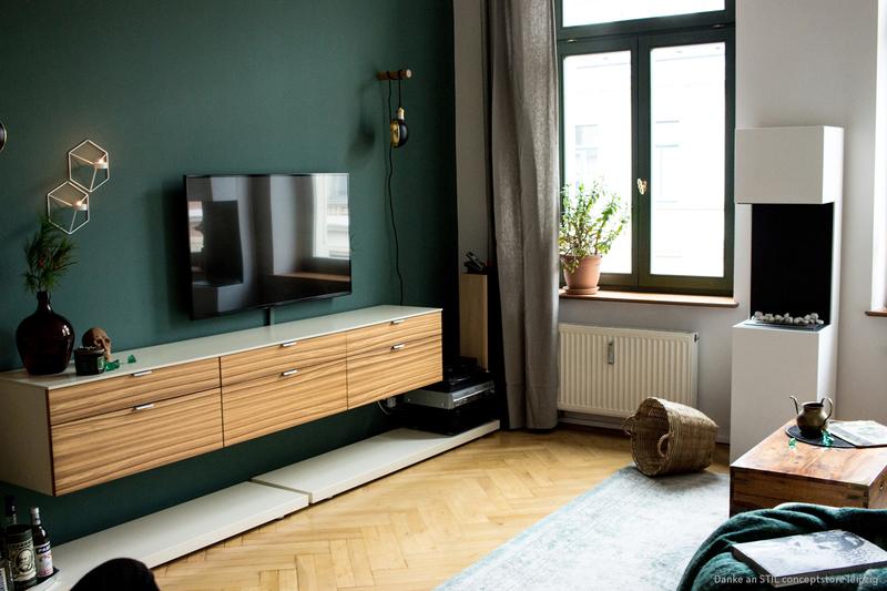 Altbau Wohnzimmer Wandfarbe