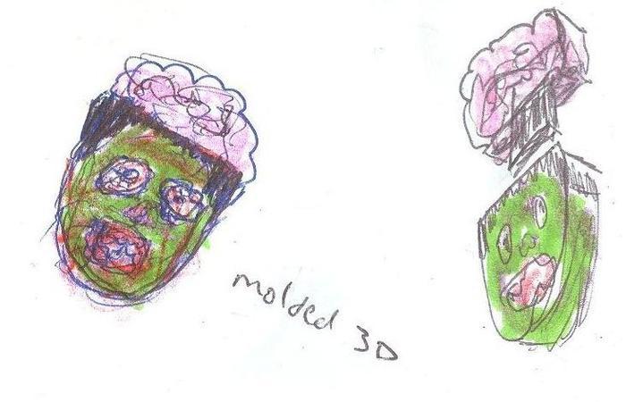 original zombie usb flash drawing