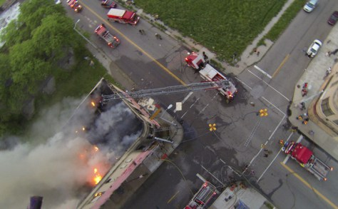 Commercial Fire in Detroit