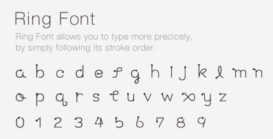 ring font