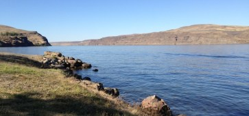 The Columbia River at Vantage, near The Gorge