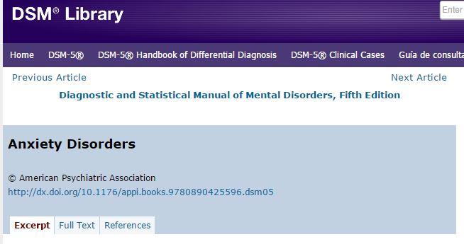 DSM 5 PSY 111 General Psychology I LibGuides At