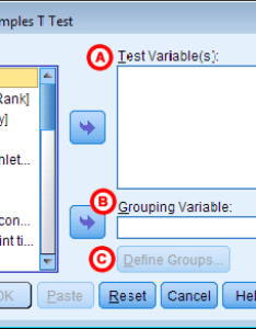 This is the continuous variable whose means will be compared between two groups you may run multiple  tests simultaneously by selecting more also independent samples test spss tutorials libguides at kent rh libguidesbrarynt