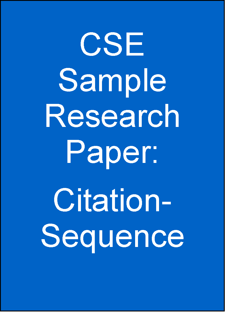 cse format example paper