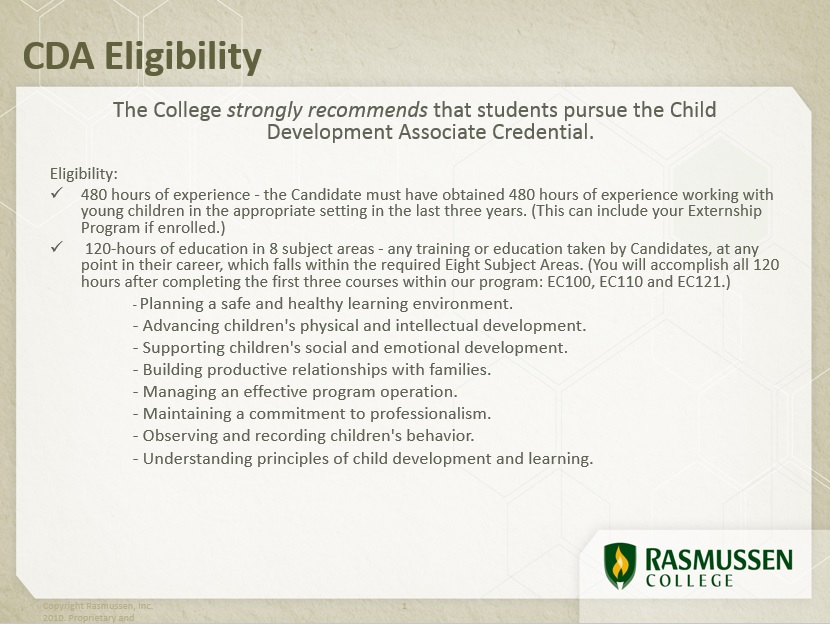 CDA Credential School Of Education RasGuides At