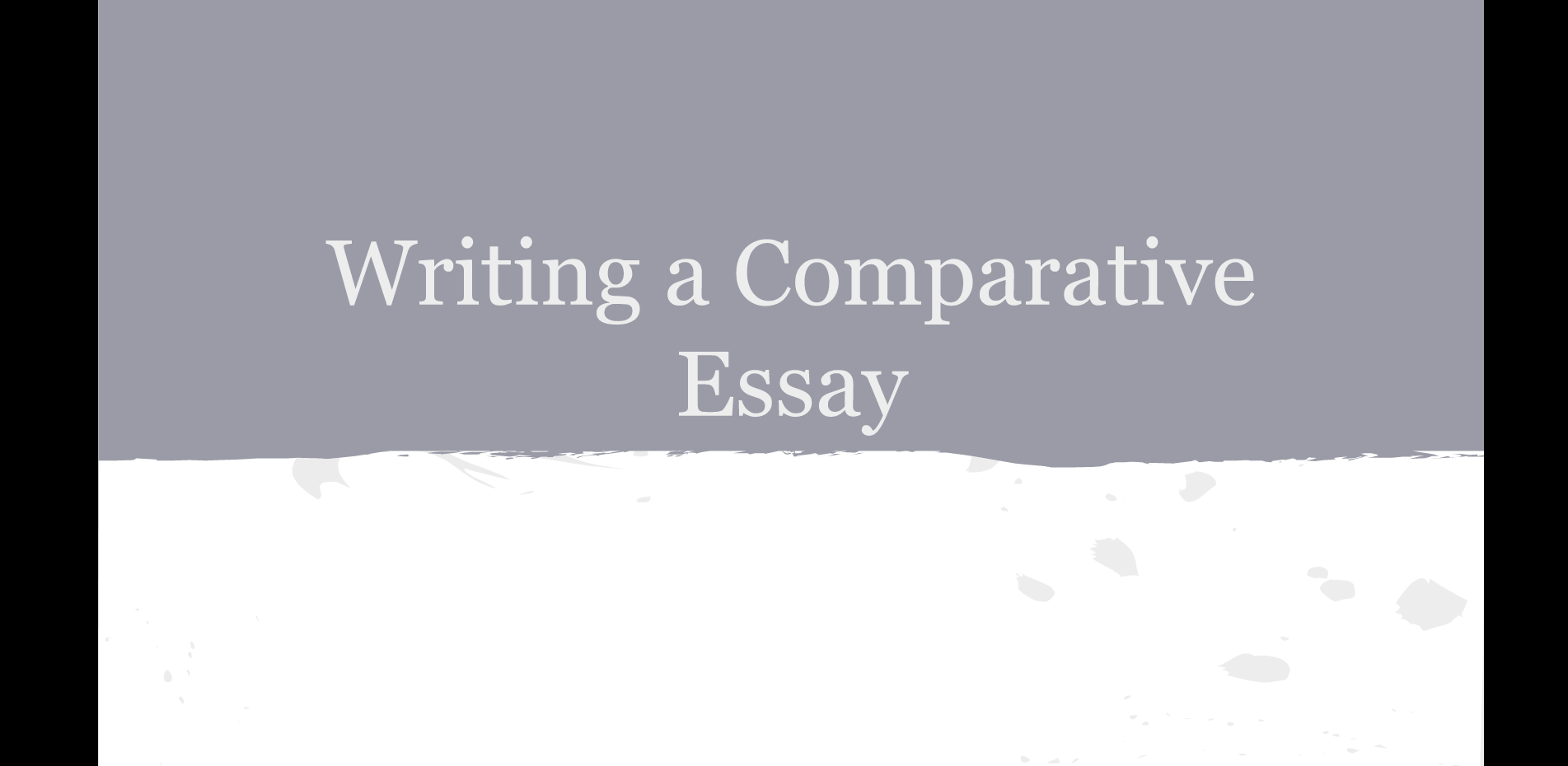 Compare And Contrast 1984 In English 10 Libguides At Zurich How To Write A  Comparative Essay