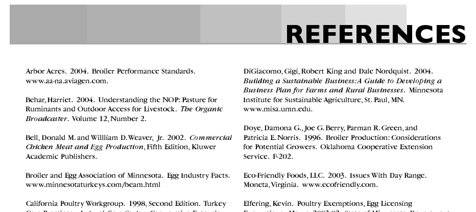 Bibliography Referencing Examples
