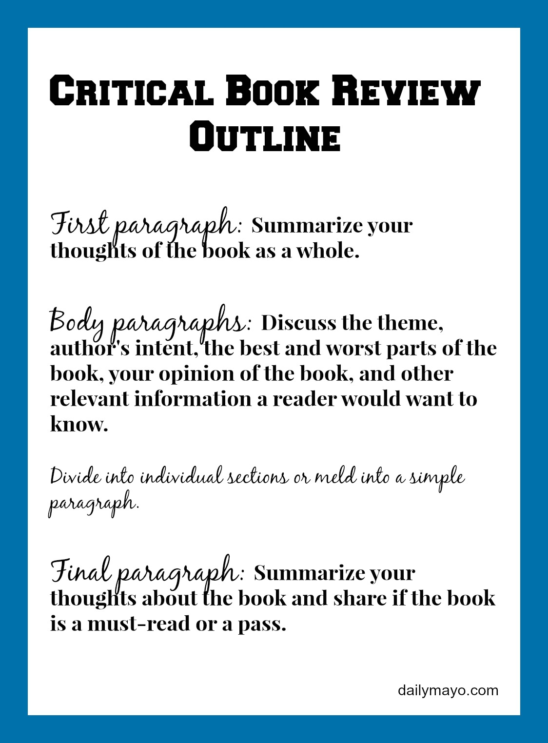 college book review template