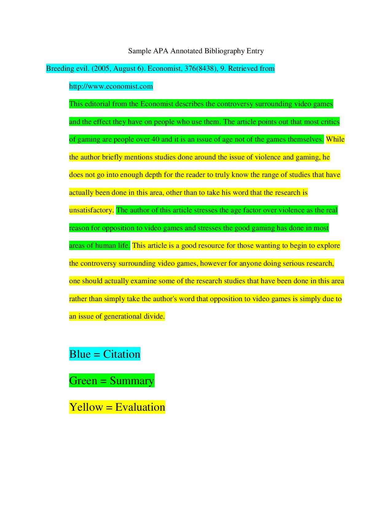 Annotated Bibliography Citation Guide Central Indiana Ivy Tech