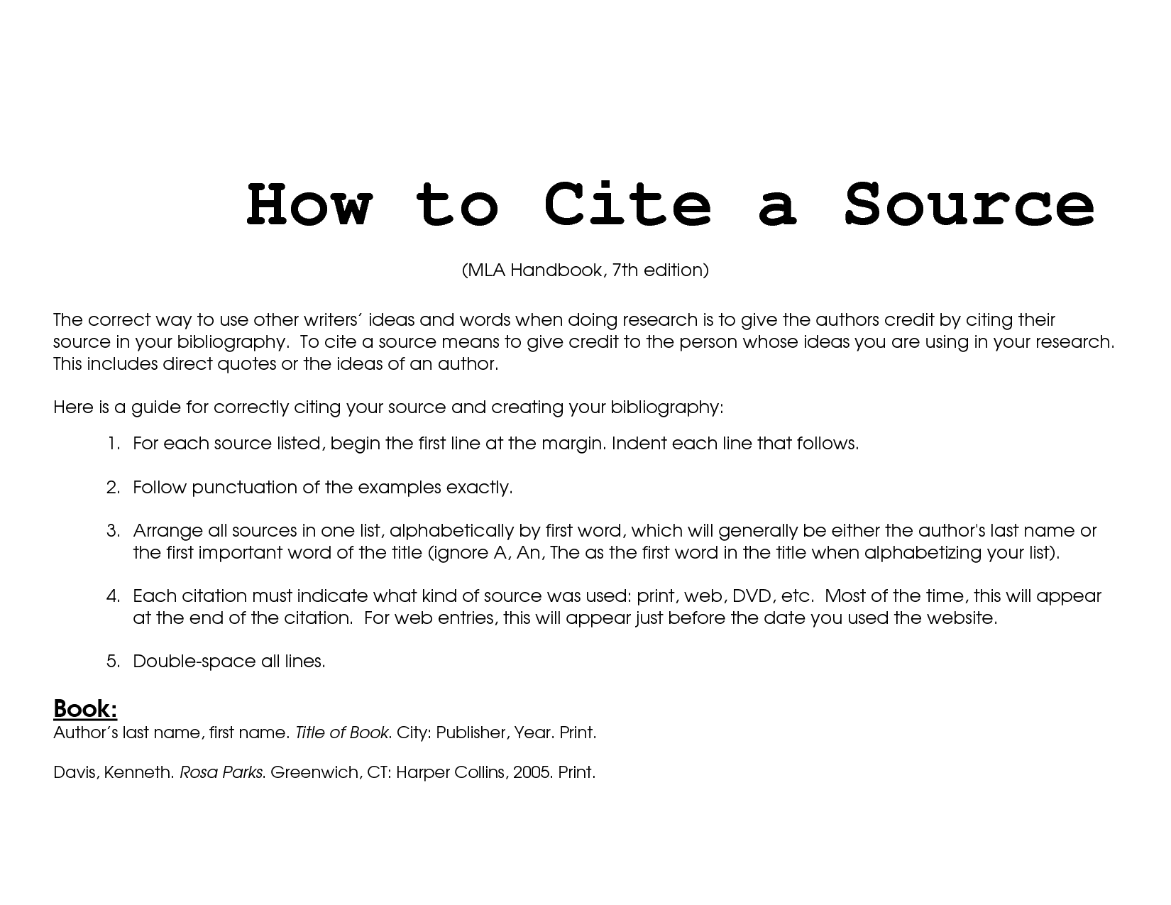 How To Cite Sources In Essay Citing Sources In Mla Style Enc1102