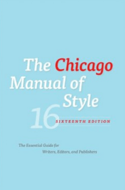 Introduction Chicago Manual Of Style & A Manual For Writers