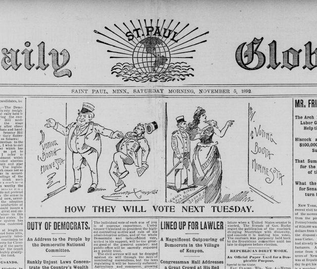 St Paul Daily Globe From November 05 1892