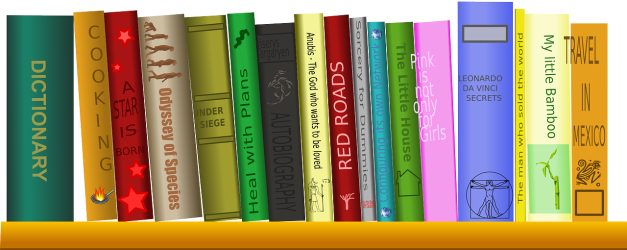 books clipart shelf library circulation desk research science cartoon phd ebooks checked clipground studying seekpng