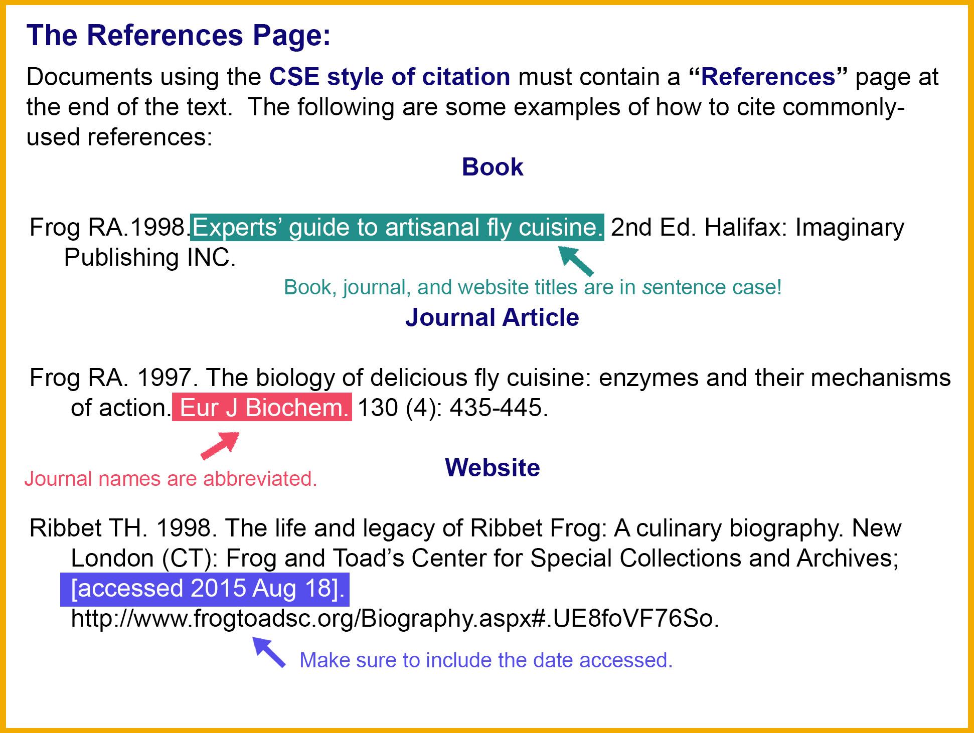 CSE 8th Edition Citation Style Guide LibGuides At Dalhousie