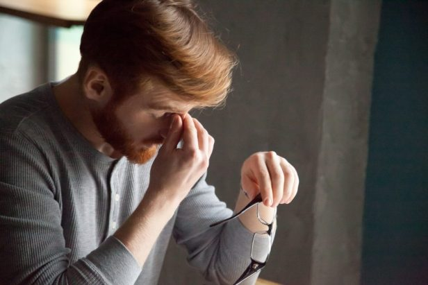 5. He keeps touching his nose | 11 Body Language Signs He's Just Not That Into You | Life360 Tips