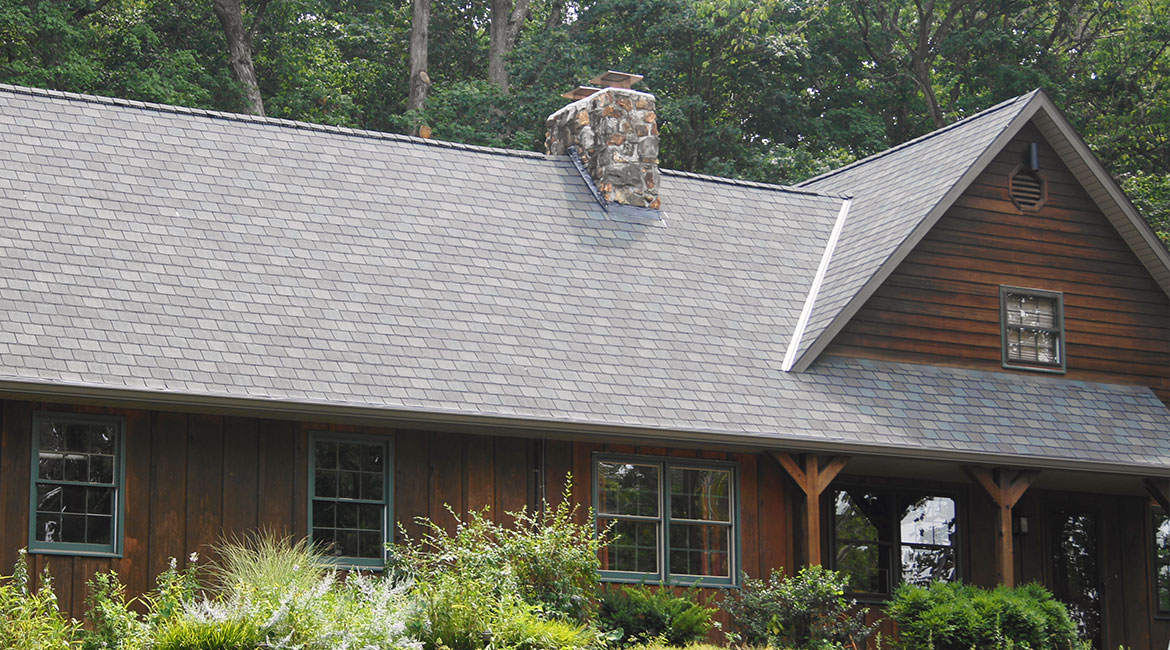 Grey high quality roof installed for TrueSon Exteriors client