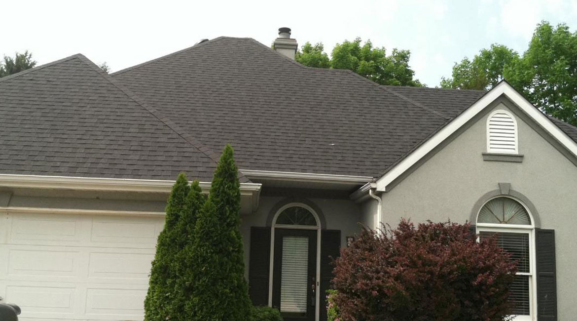 Smooth asphalt roof installation by TrueSon Exteriors