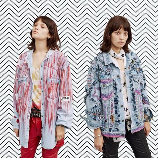 As jaquetas superestilosas da Faith Connexion: a da direita tem listras vermelhas (€ 780, cerca de R$ 2.732) e bordados com rosa na esquerda (€ 970, cerca de R$ 3.397)