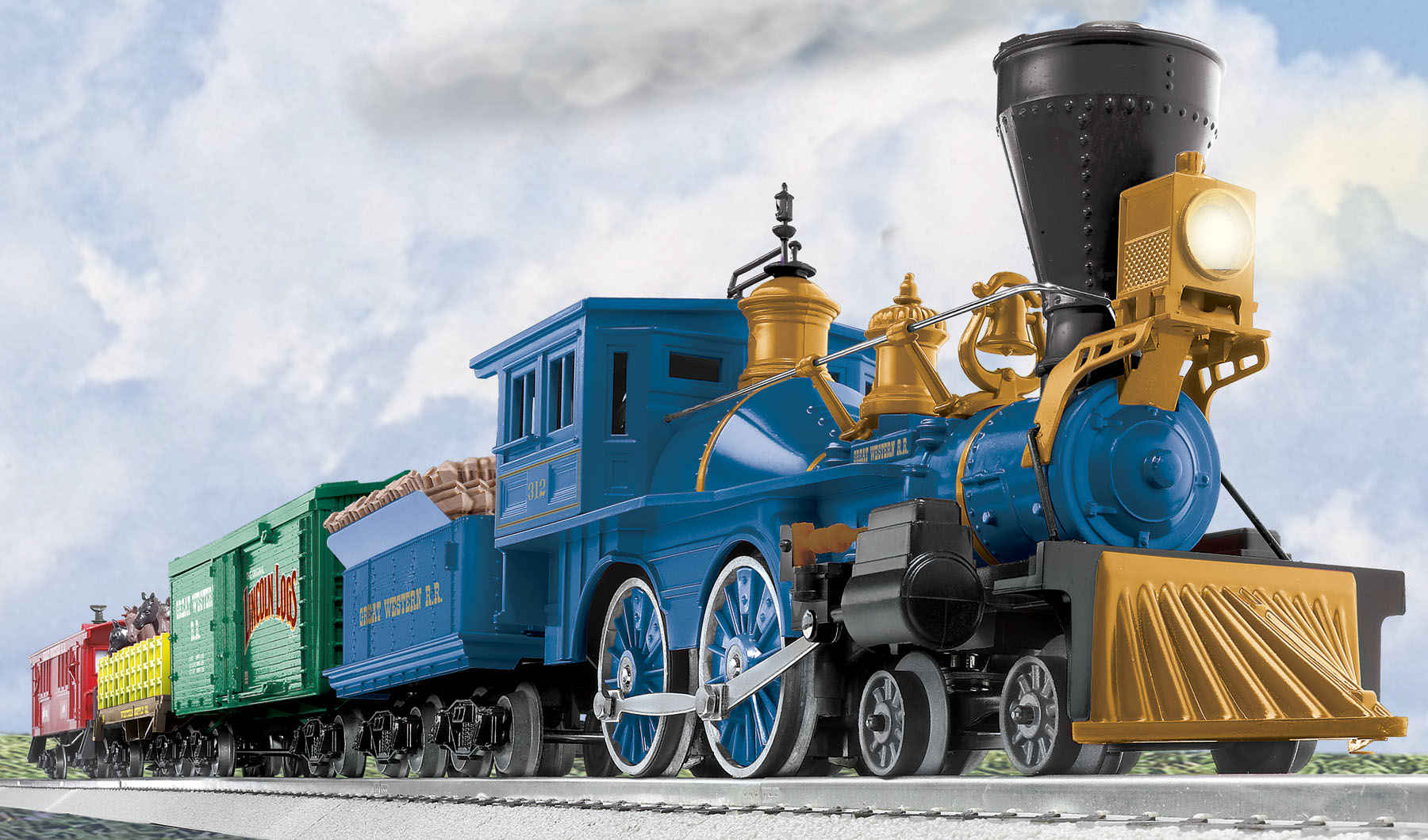 small resolution of great western train set with lincoln logs conventional 4 4 0 industrial wiring diagrams lionel general train motor wiring diagram