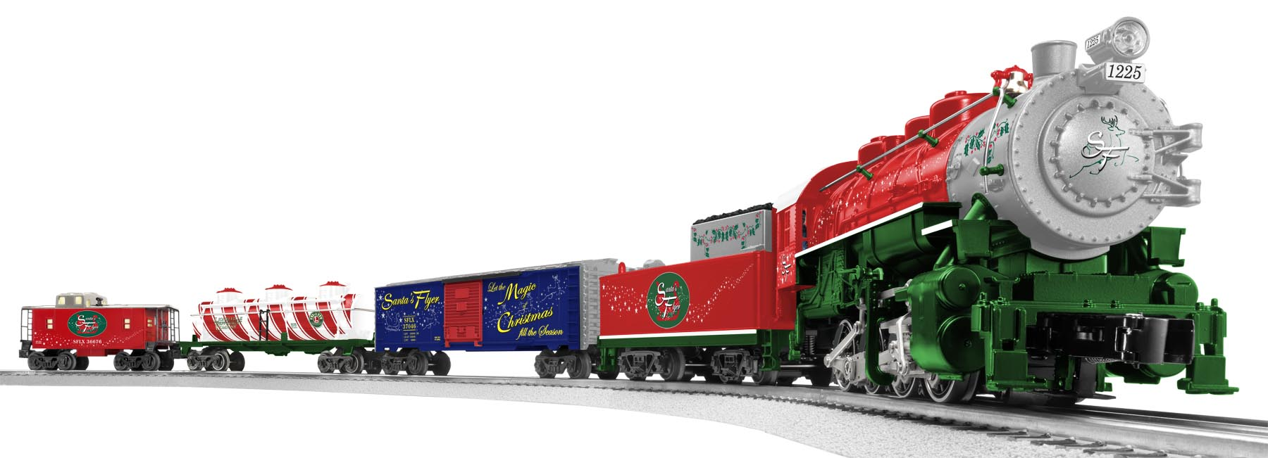 Santa39s Flyer ReadytoRun Train Set 080 Steam Loco 1225