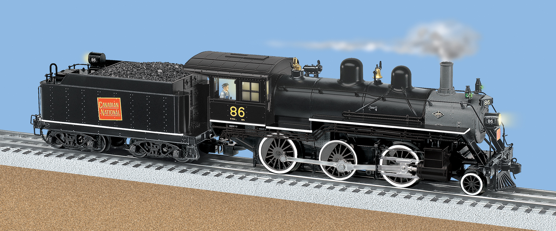 medium resolution of canadian national tmcc scale 2 6 0 mogul steam locomotive 86 ho track wiring lionel trainmaster wiring
