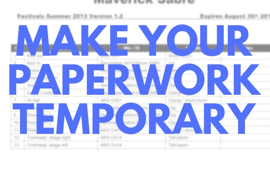 Make Your Paperwork Temporary – Version Numbers and Expiry Dates