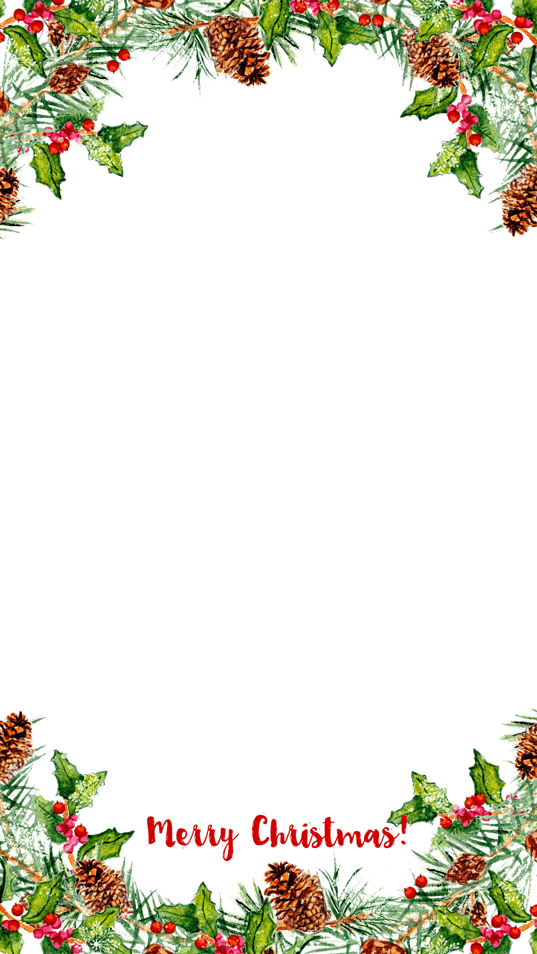 Watercolor Wreath Christmas Snapchat Filter Geofilter