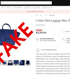 fake designer goods being sold as authentic at resale sites [ 1351 x 832 Pixel ]