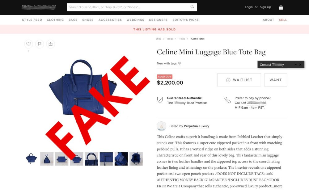 medium resolution of fake designer goods being sold as authentic at resale sites