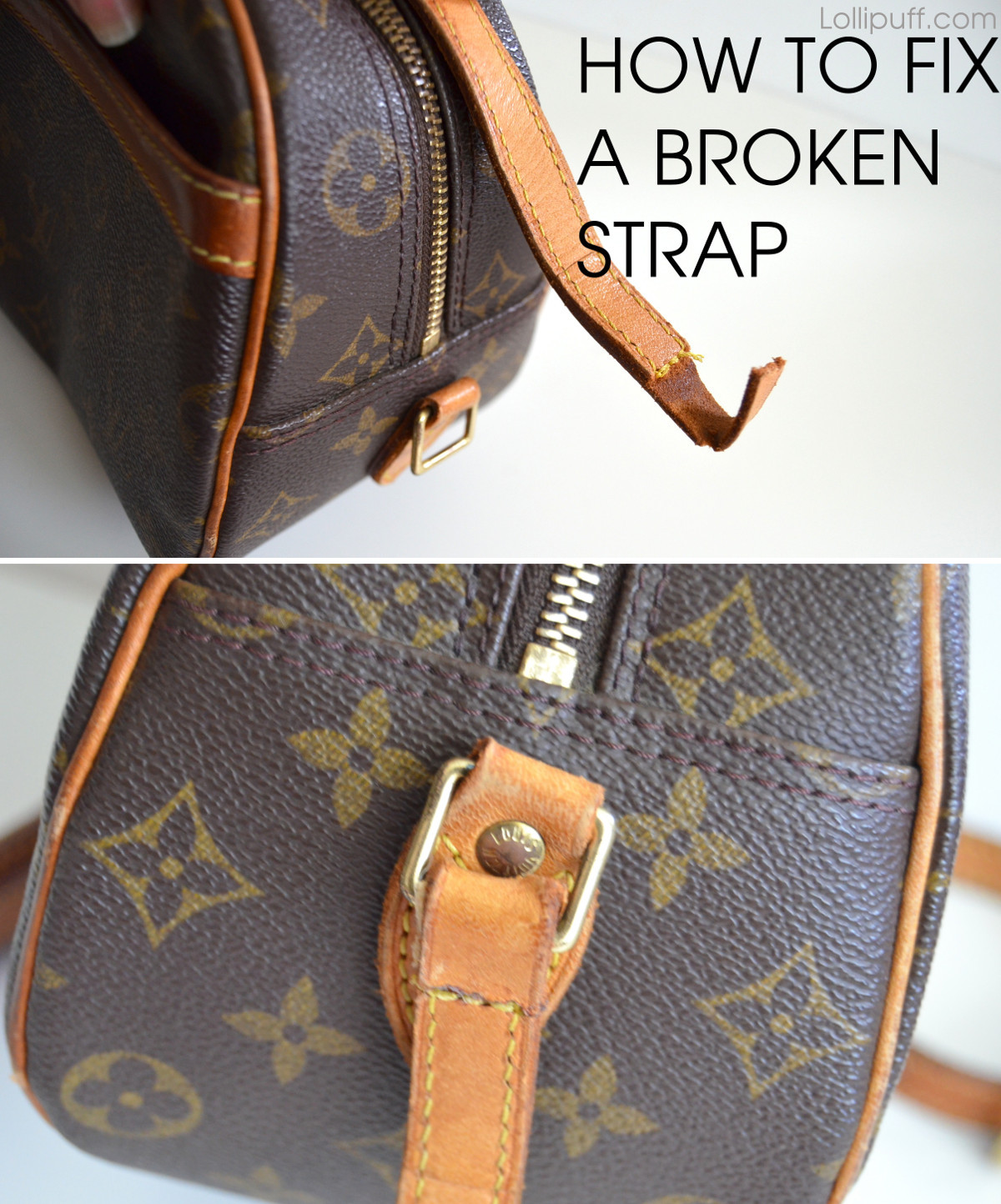 how can i fix a tear in my leather sofa modular bed nz to torn shoulder strap lollipuff