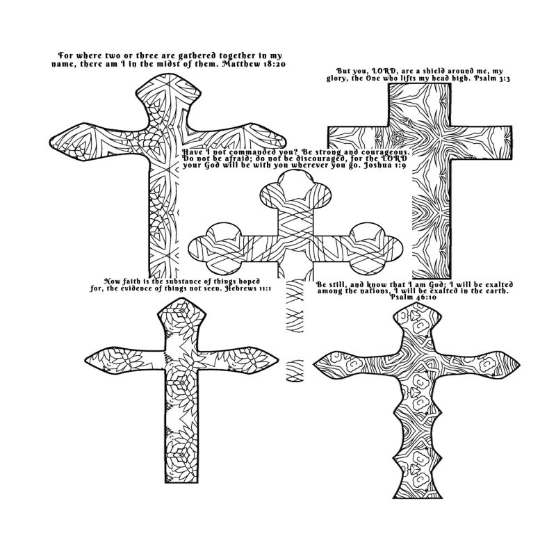 Coloring Crosses Christian Coloring Pages for Adults