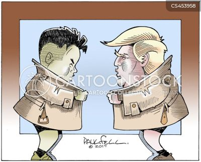 Image result for free to use cartoon of trump and kim jong un