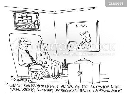 Volunteer Tax News and Political Cartoons