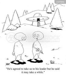 encounters close cartoon cartoons comics funny cartoonstock alien leader space