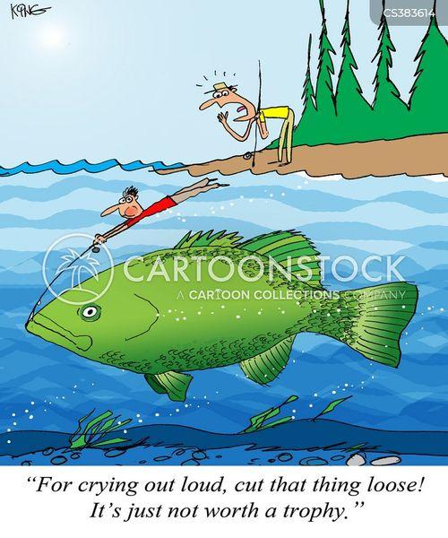 Fishing Pictures Cartoon : fishing, pictures, cartoon, Catch, Cartoons, Comics, Funny, Pictures, CartoonStock