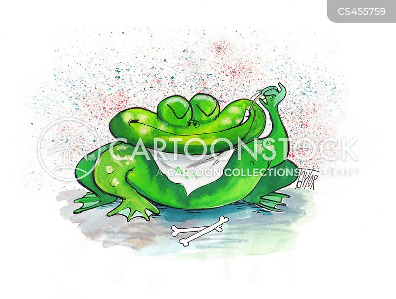 carnivorous frog cartoons and