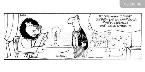 restaurant fancy service cartoon cartoons funny cartoonstock comics server lion waiter animals dislike
