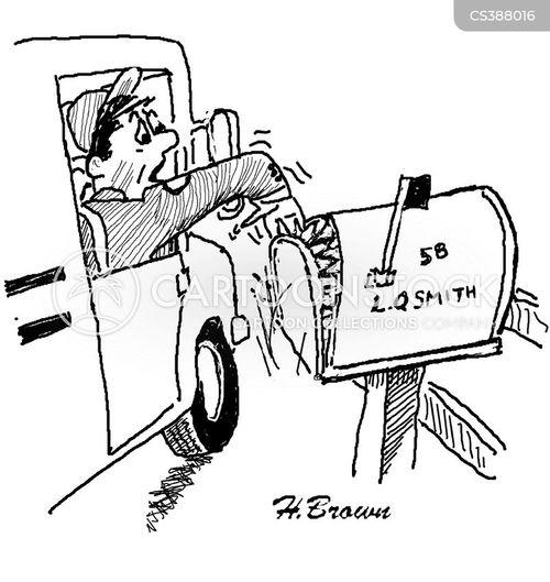 Mailman Cartoon Post Office