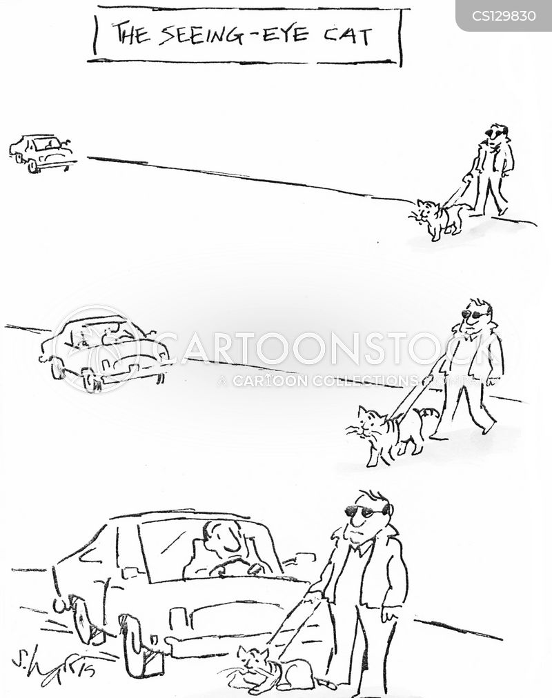 hight resolution of seeing eye dog cartoon 9 of 62