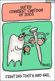 fighting tooth and nail cartoons